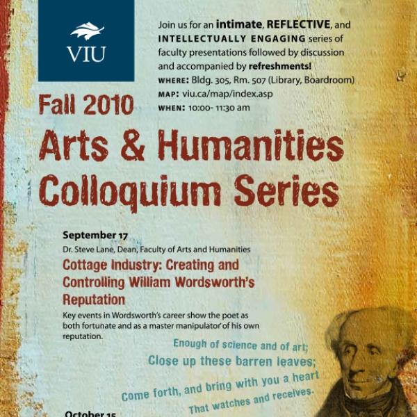 Fall 2010 Colloquium Series Poster