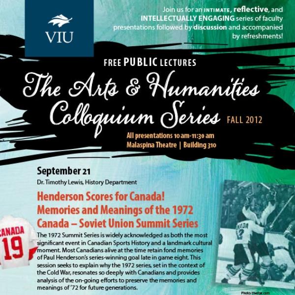 Fall 2012 Colloquium Series Poster