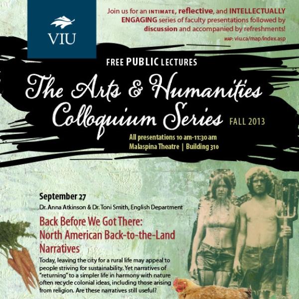 Fall 2013 Colloquium Series Poster
