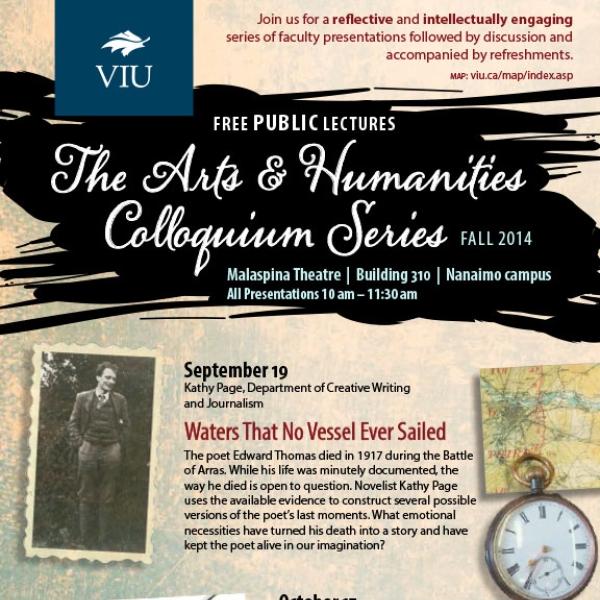 Fall 2014 Colloquium Series Poster