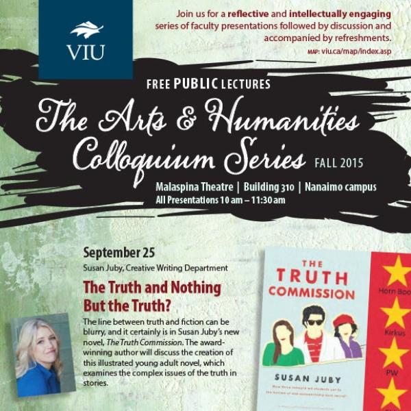 Fall 2015 Colloquium Series Poster