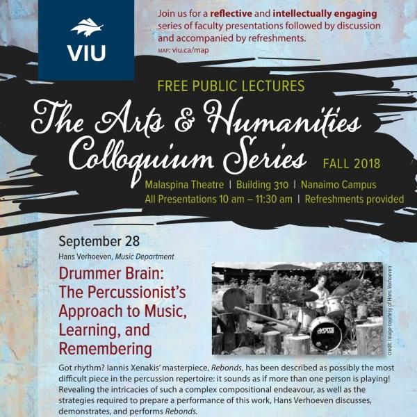 Fall 2018 Colloquium Series Poster