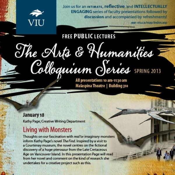 Spring 2013 Colloquium Series Poster