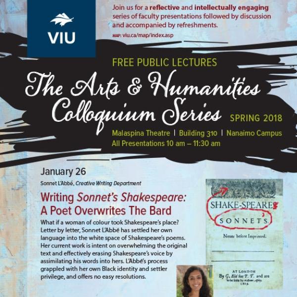 Spring 2018 Colloquium Series Poster
