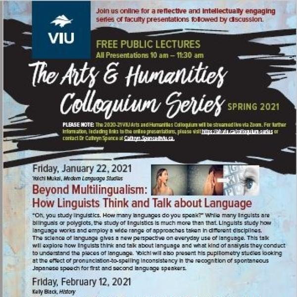 Spring 2021 Colloquium Series Poster