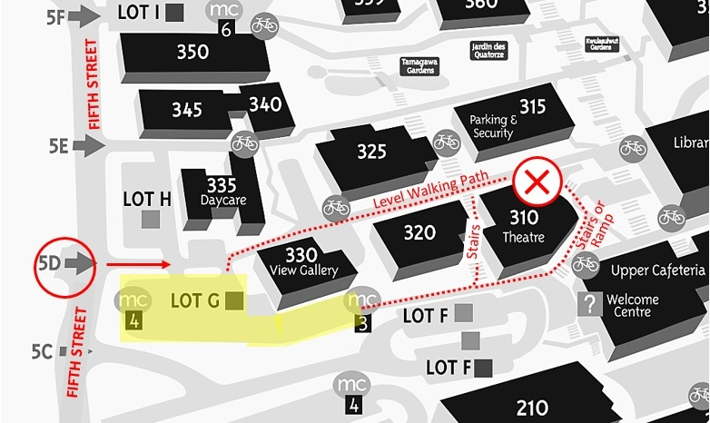 Theatre Event Parking Map