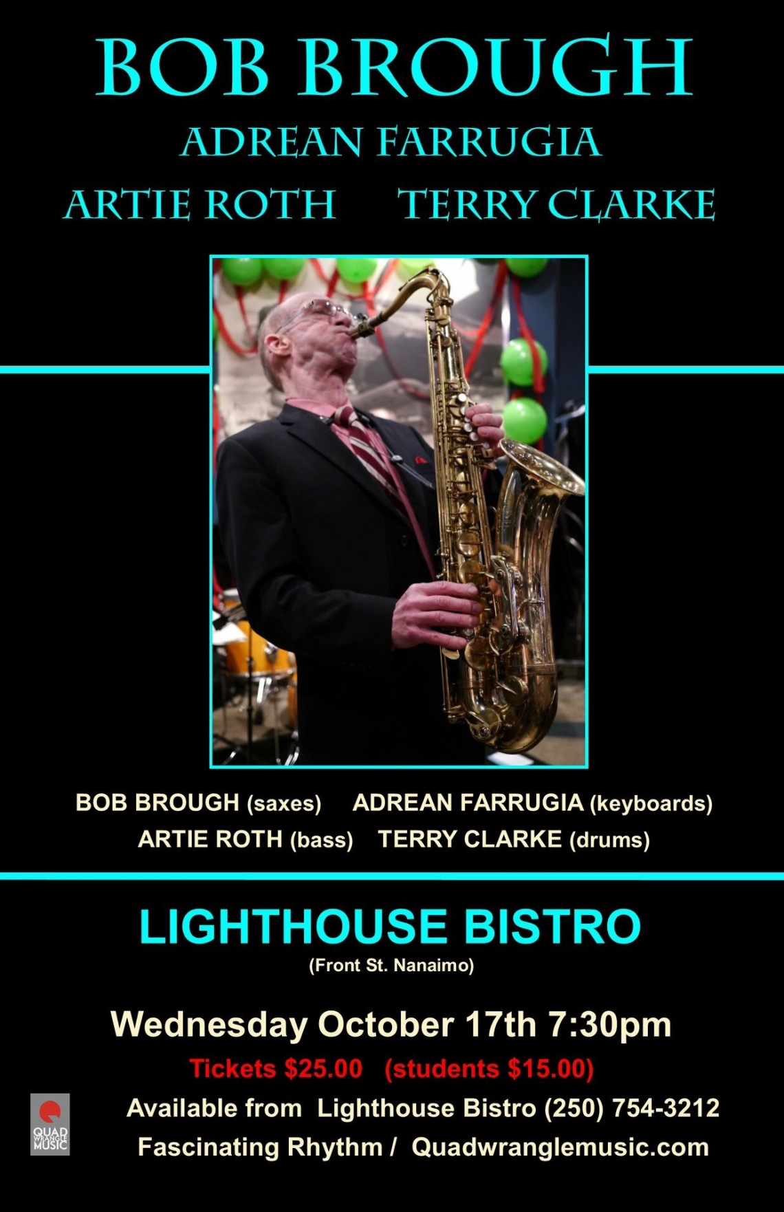 Jazz Workshop with the Bob Brough Quintet