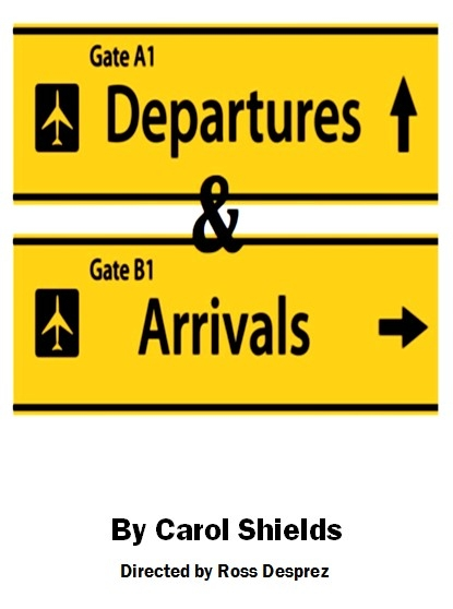 Departures and Arrivals, by Carol Shields, poster